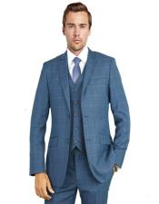 Charcoal Blue Windowpane