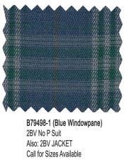 Bertolini Suit Blue Windowpane