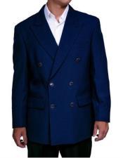 Lucci Suit Navy Slim Fit Blazer Double Blazer