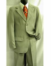 Lucci Suit Single Breasted Blazer Notch Lapel Grey