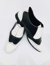 Nardoni Leather Two Toned Wing Tip Oxford Lace up