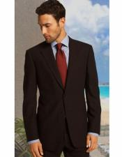 Mens Brown Notch Lapel Classic Relax
