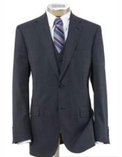 Mens Grey Side Vent Notch Lapel