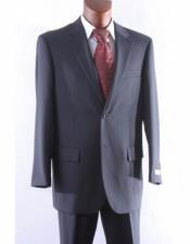 Athletic Cut Classic Charcoal Suits Mens
