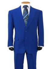 Regular Royal Blue Suit For Men Perfect  Prom