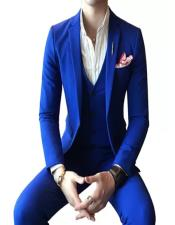 Regular Royal Blue Suit Perfect  Prom Suit Prom