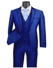 Blue Prom Suit For Men Prom Tux Skinny Fitted
