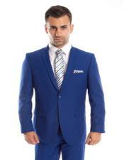 Royal Blue Suit For Men Perfect  Prom Suit