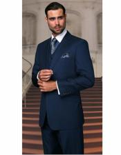 Cut Classic  Indigo ~ Bright Blue Suits Mens
