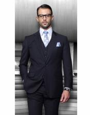 Classic Fit Suit Navy One Chest