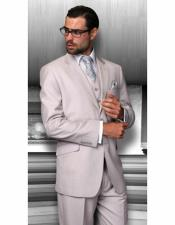 Notch Lapel Flap Front Pockets Suit Perfect For Wedding