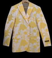 and Gold ~ Yellow Tuxedo Jacket Fashion Blazer Perfect
