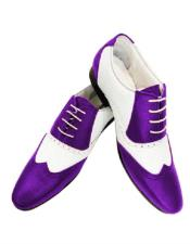 cushioned insole purple leather Mens Purple Dress Shoe