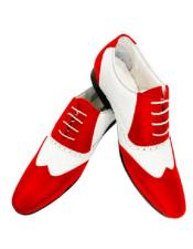 Red Leather Shoe 1920s Dress Shoe