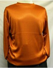 Neck Shirts For Men Rust