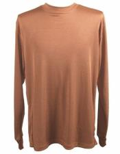 Mock Neck Shirts For Men Brown