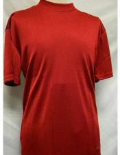 Mock Neck Shirts For Men Red