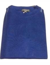 Neck Shirts For Men Royal Blue