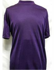 Neck Shirts Purple For Men