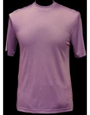 Neck Shirts For Men Lilac