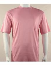 Mock Neck Shirts For Men Pink