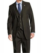 Single Breasted Peak Lapel Hunter Suit