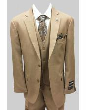 Tan Single Breasted Two Button Suit
