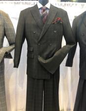 Black Six Button Peak Lapel Apollo King Suit