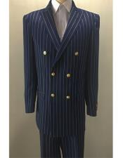 Mens Double Breasted Pin Stripe Blazer