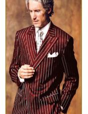 Product#Bold40 Mens Double Breasted Chalk Pinstripe