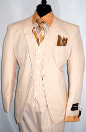 Suit Single Breasted Notch Lapel Peach Suit Jacket -