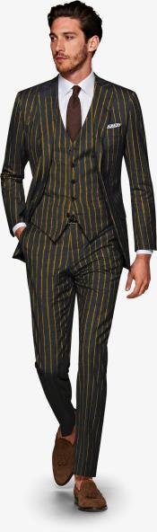 1920s 1940s Mens Gatsby Vintage Suit Black and Gold