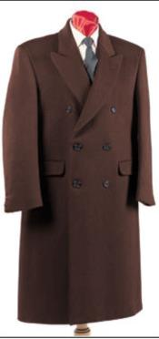 Brown Notch Lapel Full Sleeves Fully lined long coat