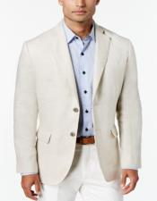 Mens Two Button Ivory Cream Off