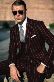 and Red Pinstripe Gatsby