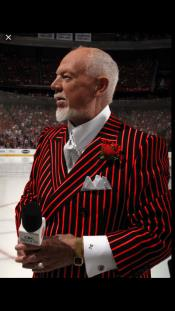 Black and Red Pinstripe Double Breasted Blazer Sport Coat