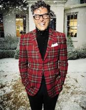 Red Plaid Sportcoat