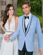 Blue Tuxedo ~ Baby Blue Light Blue Tux Jacket