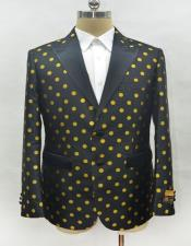 Black and Gold Polk Dot polka