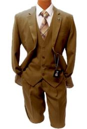 Adams Taupe Vested Classic Fit Suit