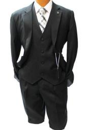 Black Vested Classic Fit