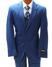 Stacy Adams Blue Vested Classic Fit
