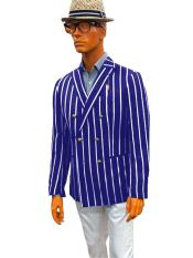 Double Breasted Six Buttons Sport Coat Blazer