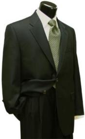 Suit Separates Wool Fabric Dark Olive Green By Alberto