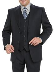 Suit Separates Wool Fabric Navy Blue Suit By Alberto