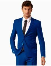 Suit Separates Wool Fabric Royal Blue Suit By Alberto