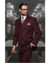 Suit Separates Wool Fabric Burgundy Suit By Alberto Nardoni