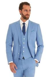 Suit Separates Wool Fabric Sky Blue Powder Blue ~