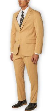 Suit Separates Wool Fabric Khaki Suit By Alberto Nardoni