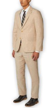 Mens Suit Separates Wool Natural Suit